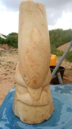 Una escultura de un delfín hallada en Palestina