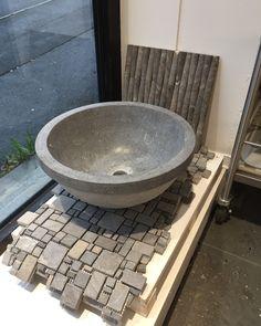 Ny tøff steinvask på plass i butikken