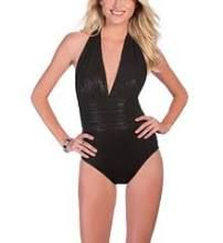 ad8972f8e8 MagicSuit Onyx Shimmer Yves Ruched Waist 1 PC Swimsuit. Cherished for Life
