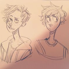 Someone asked me on my livestream to do a side-by-side of my styles so I just used my most frequent ones bc I have way too many to do them all :'D I used Austin as my doodle subject. Which ones your fave?? #percysocs