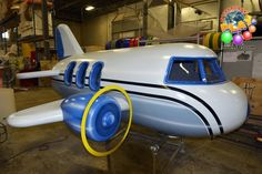 This is an airplane that will be added to an indoor playground for one of our customers. The plane looks so real you would think it could fly. Our staff at Iplayco can theme anything, you dream it, we theme it. Great addition for an airport terminal area. www.iplayco.com