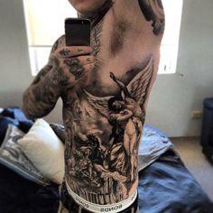 Tree Men's Rib Tattoos