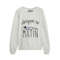 "Fashion Quotes : Sweat ""Un pour tous"" Sweat Shirt, Sweat Original, Sweat Quotes, Funny Shirts, Tee Shirts, Troyer, Mode Outfits, Pullover, Fashion Quotes"