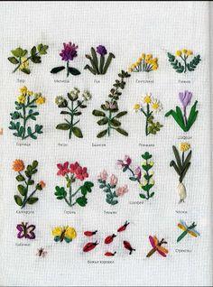 Образцы вышивки лентами: как вышивать разные цветы | Мамин Креатив