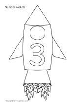Numbers 0-50 on rockets - colouring sheets (SB8758) - SparkleBox