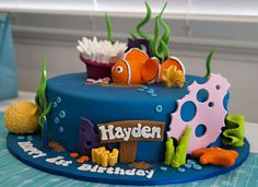 finding nemo party 8 Show us your party Haydens Under the Sea birthday Finding Nemo Cake, Finding Dory, Ocean Cakes, Ocean Party, Disney Cakes, 3rd Birthday Parties, 2nd Birthday, Birthday Ideas, Themed Cakes