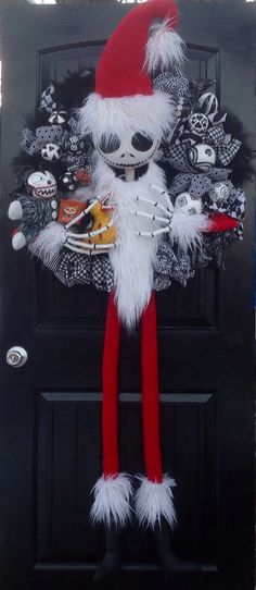 Nightmare Before Christmas Jack Skellington, Sandy Claws Wreath
