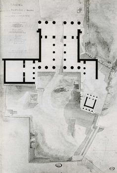archisketchbook:   Plan of the Athens Propylaeum...