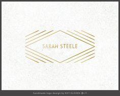 Premade Design Studio Logo Design Gold Foil by KeyEleven on Etsy