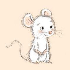 Axelle Vanhoof - Rosie Home Cute Animal Drawings, Cartoon Drawings, Easy Drawings, Maus Illustration, Cute Animal Illustration, Animal Illustrations, Doodle Art, Doodle Drawings, Rock Art