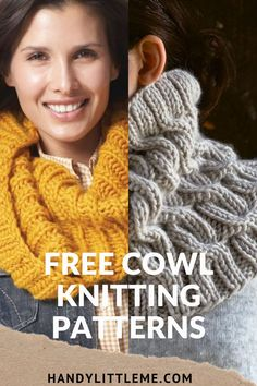 Free cowl knitting patterns including cables and other stitch patterns. A round up of my favourite cowls from knitting designers and bloggers. Knitting Designs, Knitting Patterns Free, Free Knitting, Free Pattern, Scarf Patterns, Stitch Patterns, Fair Isle Pattern, Knit Cowl, Cowls