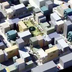 Urban Beads by MVRDV El desenvolupament, per al'àrea de Olympiakwartier de Almere, comptarà amb nou blocs urbans compostos per una varietat de diferents tipus d'edificis que els arquitectes comparen amb comptes d'un collaret.