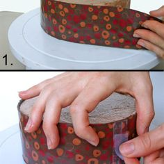 How to Wrap a Cake with Chocolate for an Elegant Finish: Wrap the Chocolate Around the Cake Modeling Chocolate, Chocolate Molds, How To Make Chocolate, Fondant Flower Cake, Cupcake Cakes, Fondant Bow, Car Cakes, Marshmallow Fondant, Fondant Tutorial