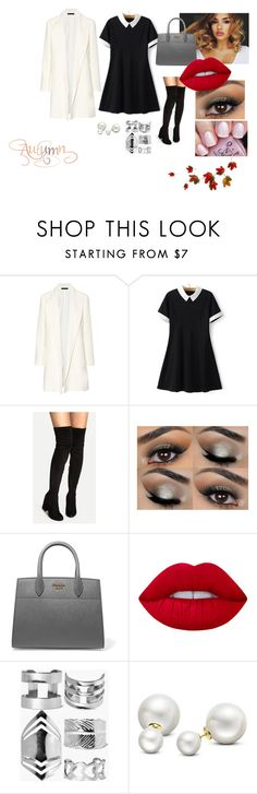 """""""Autumn #3"""" by modefan2 on Polyvore featuring mode, The Row, WithChic, Prada, Lime Crime, OPI, Boohoo et Allurez"""