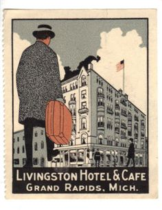 Livingston Hotel & Cafe stamp - 1920s. Have to find a place to use this!