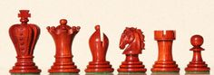 Chess sets from The Chess Piece chess set store: The Regal Padauk, Collector Chess Sets.  $185 CAD