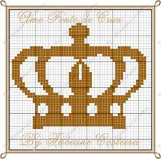 Princess crown x-stitch