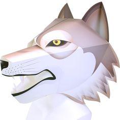 無料で簡単に変装グッズ出来ちゃいます!ハロウィン✨と言ったら仮装ですよね✨ 今年は狼男なんていかかでしょう??変装して楽しんでくださいね〜✨   かぶりもの:オオカミ,イベント,ペーパークラフト,オオカミ,お面,仮装,簡単,動物