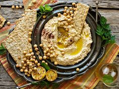 There are plenty of versions of hummus recipes out there but this is a great go to – easy and fast. Tart, lemony and creamy all at the same time, it easily becomes a light meal before you know it.