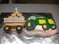 Bryce's 1st Birthday John Deere cake