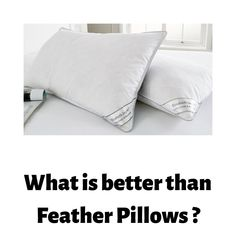 We Prefer Feather Pillows than Down Pillows. Find Out Why ? Down Pillows, Bed Pillows, Feather Pillows, Pillow Cases, Pillows