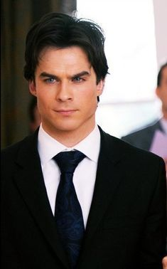 Change that tie to a gray and black tie... Yes. I see Chrisitan Grey not Ian Somerhalder!