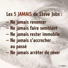 Les 5 Jamais de Steve Jobs