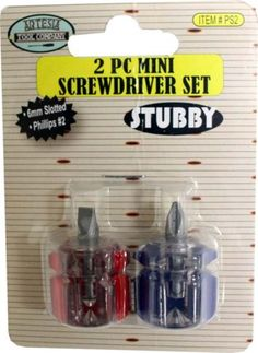 1-5-Short-Stubby-Mini-Screwdriver-Set-Phillips-2-Flat-Head-Screwdrivers