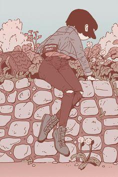 Supersonic Art: New Contemporary Art Curated by Zach TutorPosts on Supersonic Art Tagged 'illustration' Art Inspo, Kunst Inspo, Art Manga, Anime Art, Art Et Illustration, Character Illustration, Pretty Art, Cute Art, Bel Art