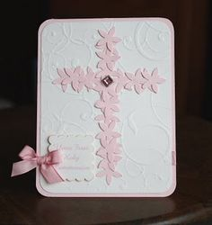 Sunshine, Smiles & Stamps= Lovin' Life: Dual First Communion Confirmation Cards, Baptism Cards, First Communion Cards, Tarjetas Diy, Communion Invitations, Communion Favors, Christian Cards, Embossed Cards, Get Well Cards