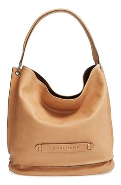 Longchamp '3D' Leather Hobo available at #Nordstrom