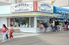 Ocean City, MD Boardwalk.  Many wonderful memories of Dumsers soft ice cream and milkshakes with Mom.