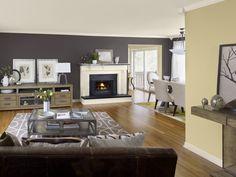 Akzent Farbe Wände Wohnzimmer