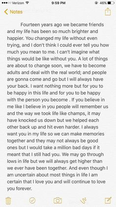 Me and my best friend are graduating from high school and I write her a letter. Source by The post Me and my best friend are graduating from high school and I write her a letter. Friendship Quotes appeared first on Quotes Pin. Best Friend Texts, Happy Birthday Best Friend Quotes, Birthday Wishes Quotes, Birthday Messages, Best Friend Messages, Birthday Message For Bestfriend, Best Friend Captions, Message For Best Friend, Happy Birthday Boyfriend