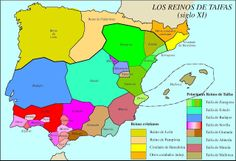 Moorish taifas in Iberia - 11th century