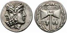 "lionofchaeronea: "" Late Hellenistic silver tetradrachm of the island of Tenedos (off the northwestern coast of Anatolia). Obverse: a janiform head of Zeus and Hera; reverse: a double axe. Ca. 100-70 BCE. Photo credit: Exekias/Wikimedia Commons. """