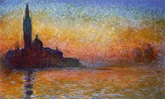 San Giorgio Maggiore at Dusk Claude Monet art for sale at Toperfect gallery. Buy the San Giorgio Maggiore at Dusk Claude Monet oil painting in Factory Price. Claude Monet, Pierre Auguste Renoir, Monet Paintings, Landscape Paintings, Landscape Posters, Artwork Paintings, Painting Wallpaper, Landscape Pictures, Manet