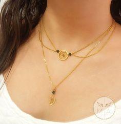 COLLAR ATRAPASUEÑO DORADO Gold Necklace, Jewelry, Chains, Steel, Rocks, Colombia, Necklaces, Accessories, Gold Pendant Necklace