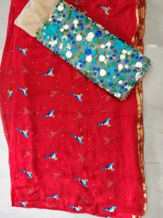 Saree with designer blouse