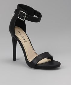 These hotties and an oversized white mens shirt. Take a look at this Black Perton Sandal by Bamboo on #zulily today!
