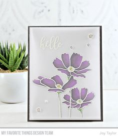 Our team knows how to rock a card kit, don't they? Whether you've shopped for the new Flowers in Bloom Card Kit already or not, you won't… Card Kit, Card Tags, Neat And Tangled, Mft Stamps, Blooming Flowers, Pretty Cards, Cool Cards, Flower Cards, Greeting Cards Handmade