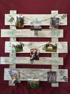 Picket fence frame Distressed Old White Picket Fence picture frame collage photo board picture board picture collage farmhouse decor Pallet Picture Display, Pallet Picture Frames, Pallet Pictures, Collage Picture Frames, Wooden Picture, Collage Photo, Diy Father's Day Crafts, Pallet Crafts, Pallet Art