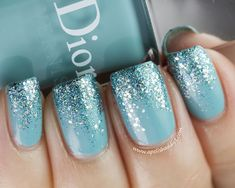 Dior Saint Tropez and Nails Inc 3D Pastel Glitters in Hammersmith #Aquamarine #pantone
