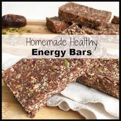 Homemade Healthy Energy Bars - These bars are so simple and require no baking. Hope you enjoy them as much as we do.