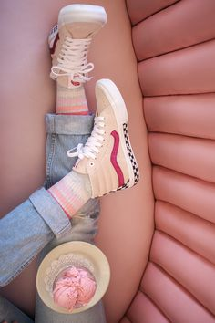 sneakers at ross Painted Vans, Painted Sneakers, Vans Sneakers, Vans Shoes, High Top Sneakers, Balenciaga, Givenchy, Valentino, Gucci