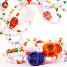 Pulseras y collares Ushuva super originales, edición limitada con calaveras ... pedidos a info@ushuva.com.ve ~❤