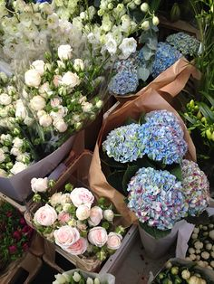 Columbia Road flower market...