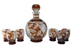 7-Pc Bohemian Glass Decanter Set