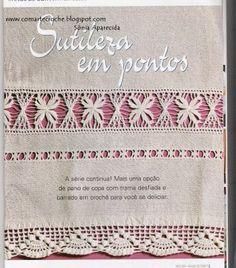 COM ARTE CROCHÊ: BAINHA ABERTA E CROCHÊ