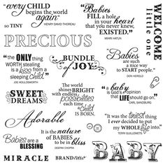 fiskars precious baby quotes clear stamp set note to self i have this set site not related tracy latham new baby congratulations